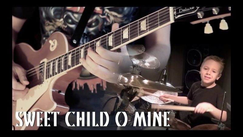 'SWEET CHILD O MINE' - Instrumental Cover - Performed by Karl Golden Avery Drummer (Aged 6)