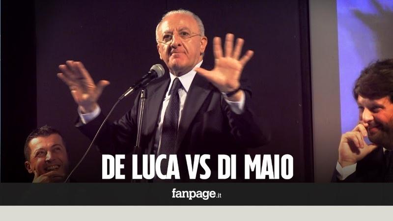 De Luca contro Di Maio: È un noto sfaccendato, chiedeva al papà i soldi per pizza e birra