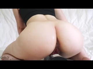 Booty girl shows her gape after with big daddy