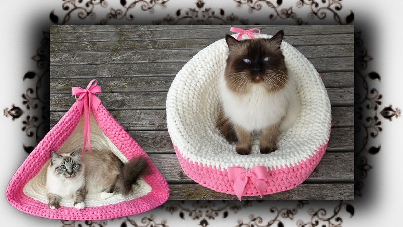 DIY 😻 2 in 1 Häkel Sessel Zelt für Katzen | crochet chair tent for cats