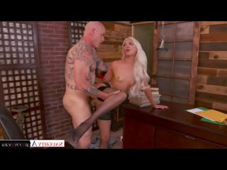 Elsa Jean, Derrick Pierce In the office, Secretaries, With talk, Old with young, Shaved, On a rider, Beautiful linger