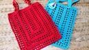 Kolay File Alışveriş Çantası Yapımı / Crochet Rectangle Market Bag (Eng. Subt.)