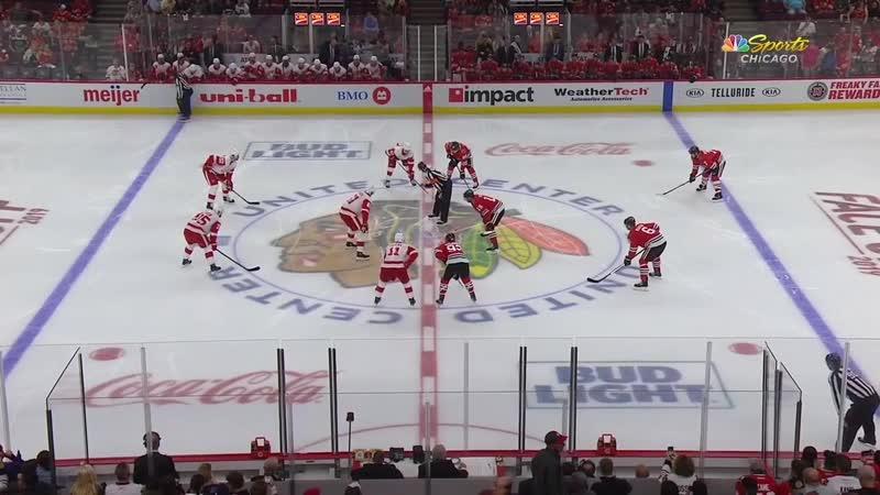 Detroit Red Wings vs Chicago Blackhawks - Sep 18, 2019 - Preseason - Game Highlights
