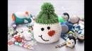 Christmas : how to Crochet a Snowman Gift Sack(wie man häkelt)(как вязание крючком)