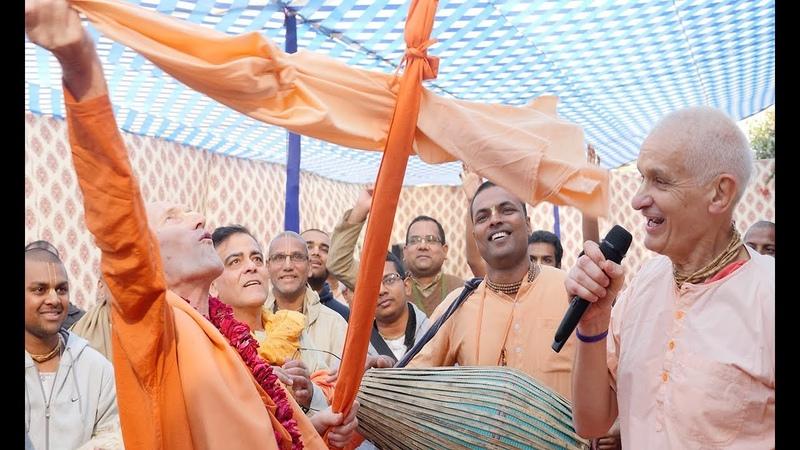 Ecstatic kirtana with HH Janananda Gosvami and HG Mukunda Datta Prabhu