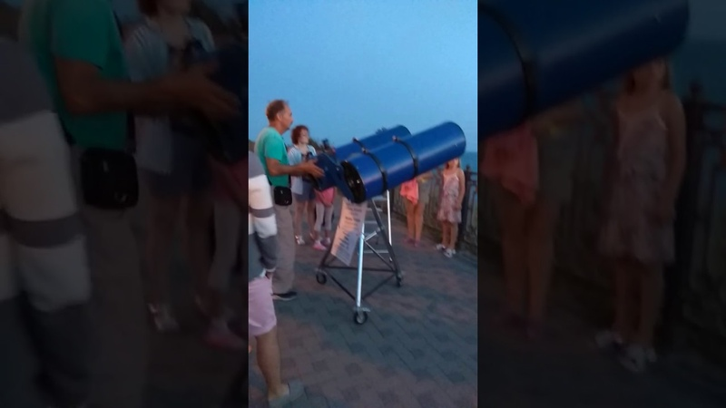 Large telescope in Anapa,Russia August 6, 2019 (Delta Dance Camp)