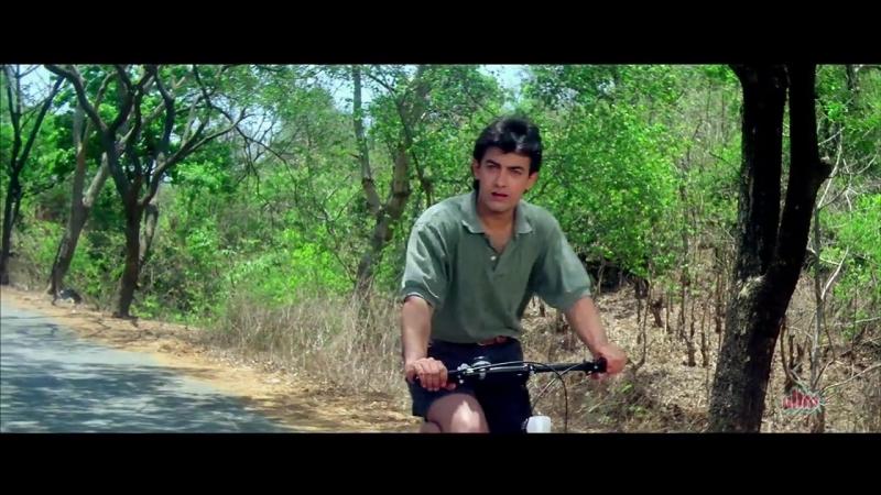 Aamir Salman Khans Unrealistic Dream Sequence 4K Video Part 1 Andaz Apna Apna cut 002