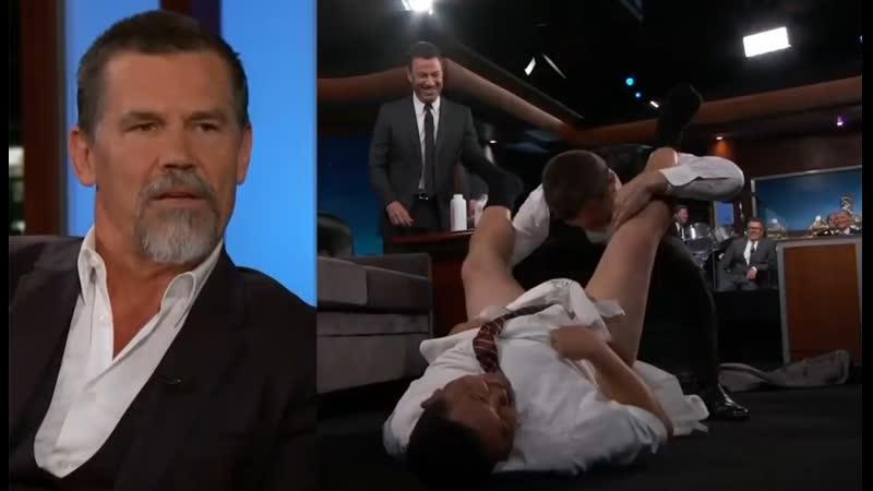 Джош Бролин рассказывает о Таносе и меняет подгузники Гильермо шоу Джимми Киммела