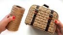 Декоративный чемоданчик Плетение из джута
