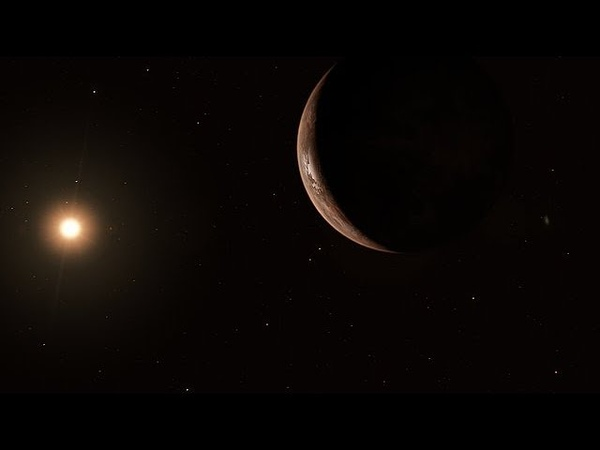 Artist's impression of Barnard's Star and its super Earth