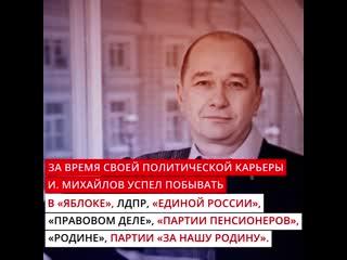 Факты о кандидаты в губернаторы Санкт-Петербурга И.Михайлове
