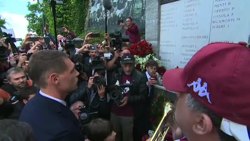 Superga, Belotti legge i nomi delle vittime 70 anni dopo - - SkySport GrandeTorino.mp4