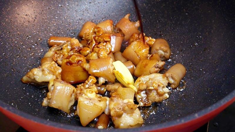 客家特色燜豬尾,搭配個紅腰豆,營養又好吃,吃貨馬住【我是馬小壞】