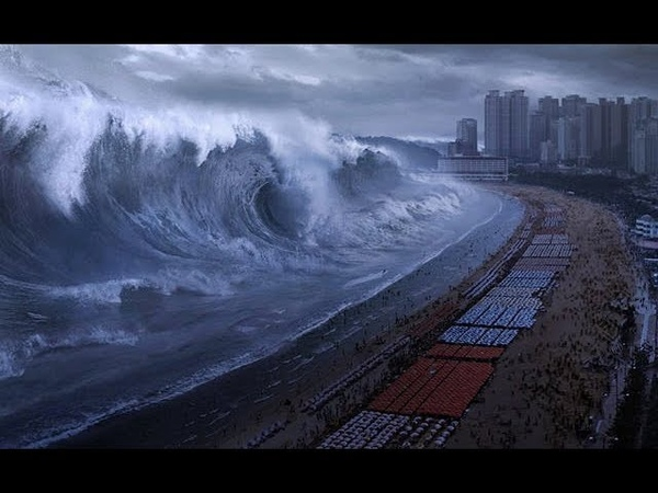2019 Цунами Приливная волна Haeundae Tidal Wave