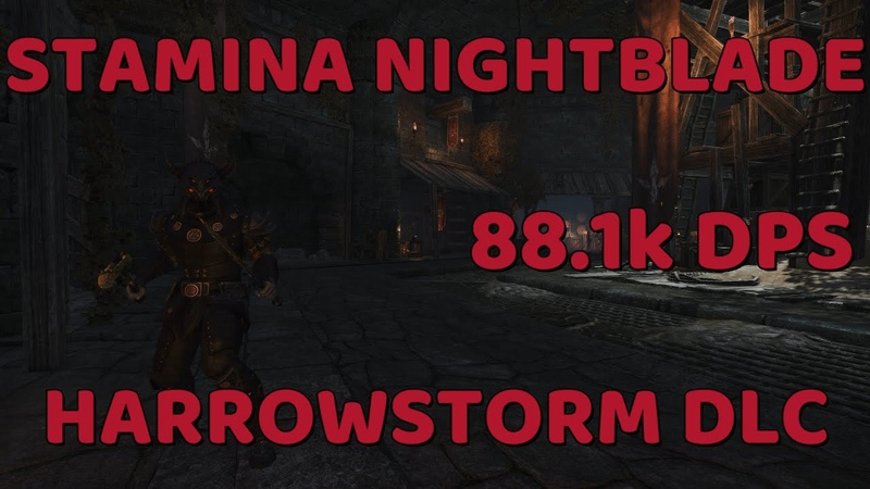 ESO Stamina Nightblade PvE Guide 88 1k DPS EZ Rotation Harrowstorm DLC