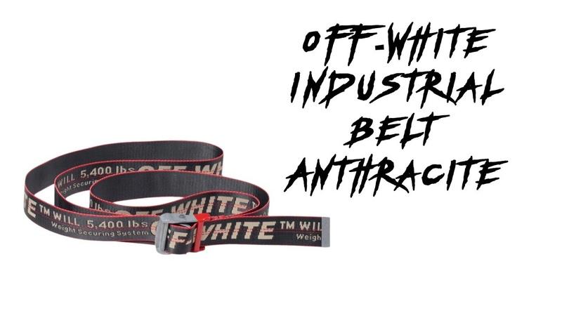 Ремень OFF WHITE Industrial Belt Anthracite