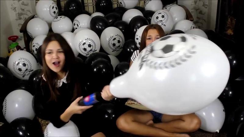 Girls pump to pop white balloons