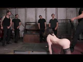 Audrey's first gang bang big tit slut gets stuffed airtight