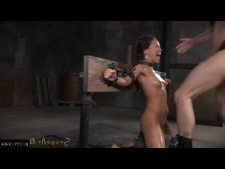 Kalina Ryu [ Bdsm / Dildo and vibrator, Deep blowjob, Cum on face, In oil, Bondage]