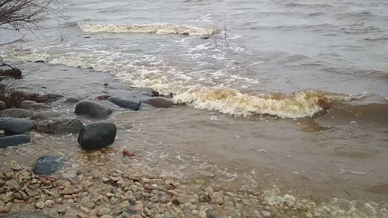 Прибой на Ильмень-озере