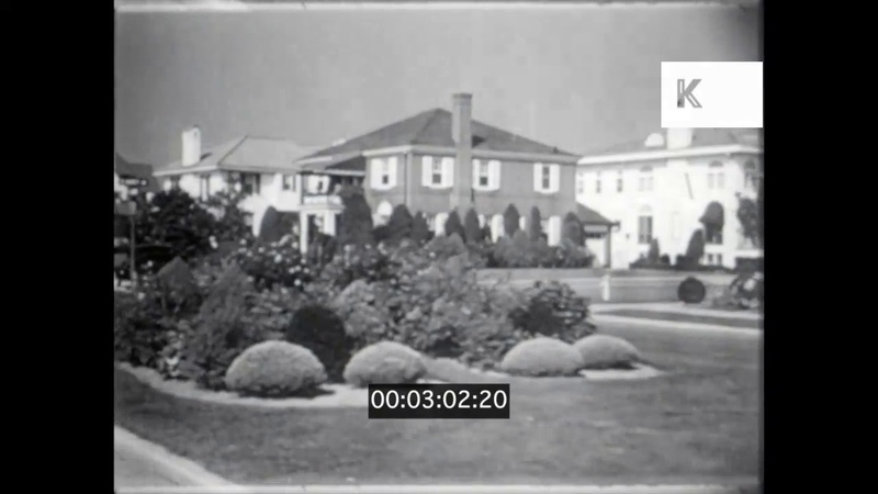 1940s 1950s USA Atlantic City Residential Neighbourhoods Country Club 16mm