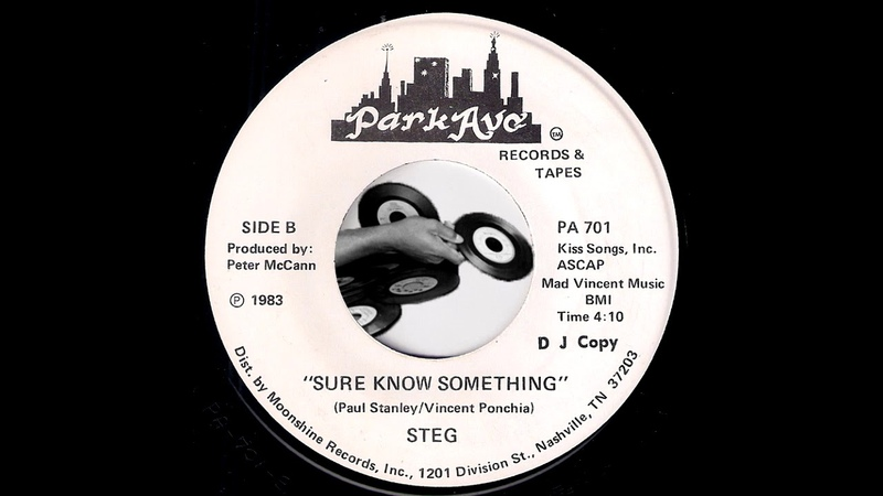 Steg Sure Know Something KISS Cover Park Ave 1983 Obscure Female Hard Rock 45