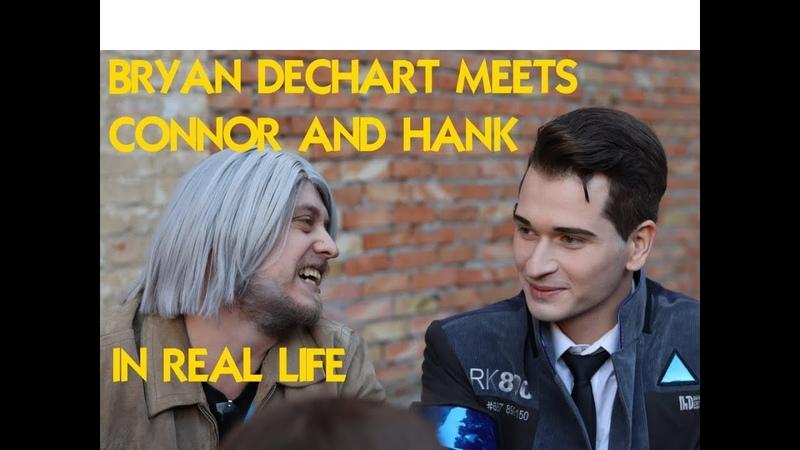 Bryan Dechart meets Connor and Hank in real life Брайан Декарт встретил Коннора и Хэнка на Comic Con