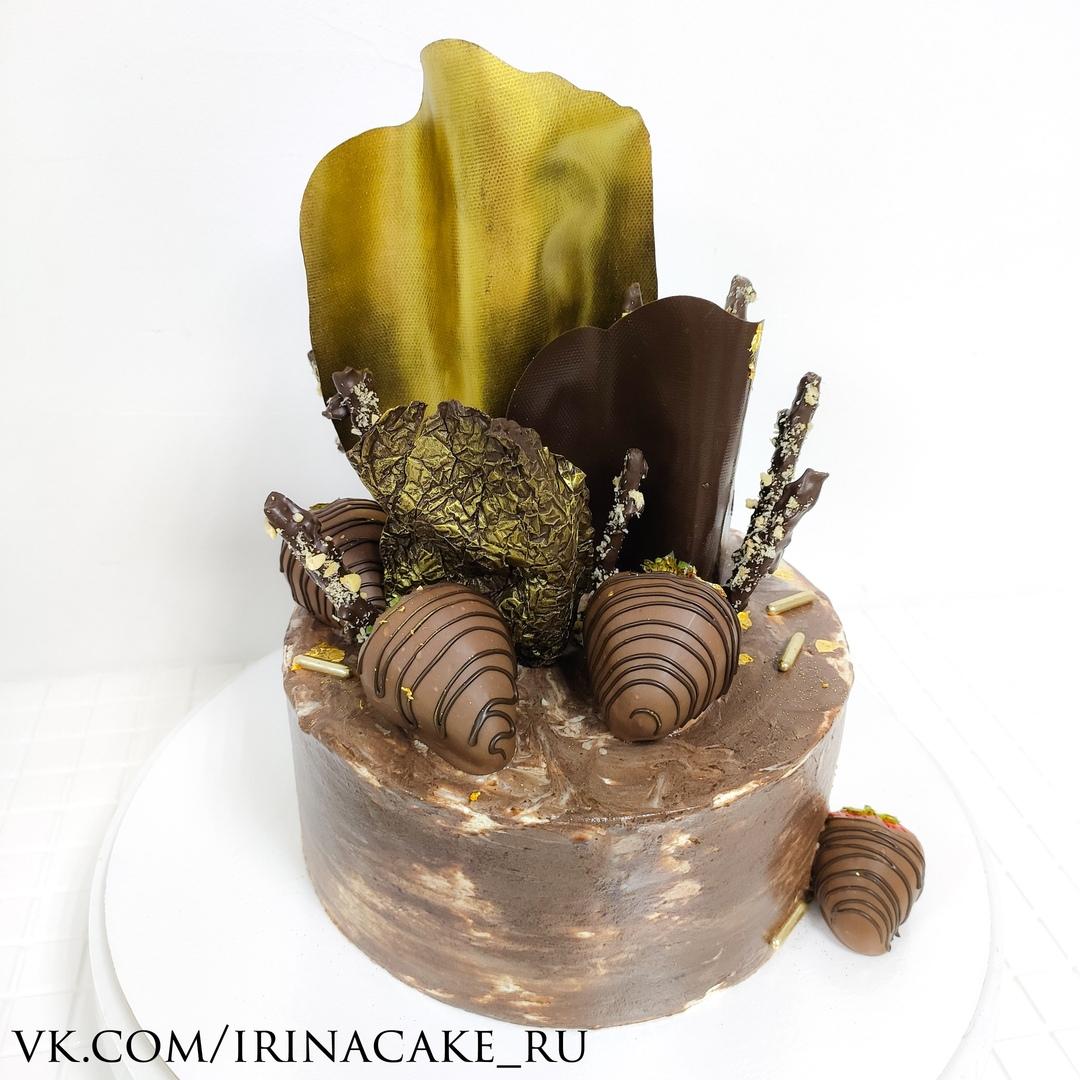 Стильный шоколадный торт (Арт. 660)