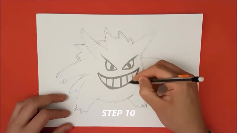 ✍ How To Draw 8 🌟 Gengar   Easy 💫 Pokemon