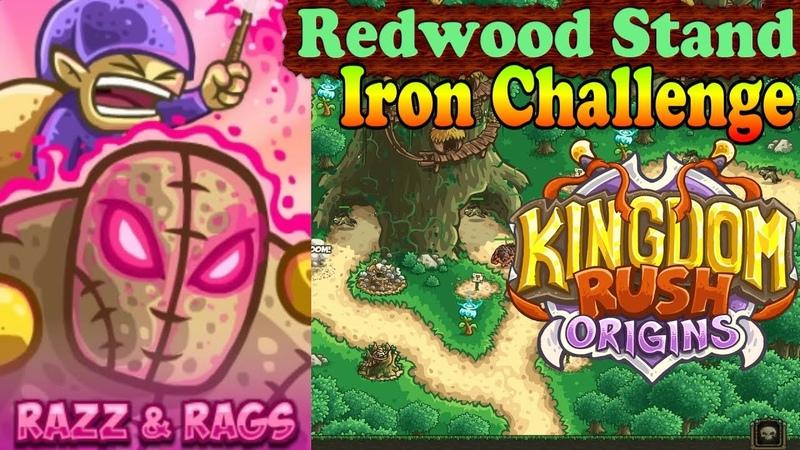 Kingdom Rush Origins HD Redwood Stand Iron Level 4 Hero Prince Razz and Rags