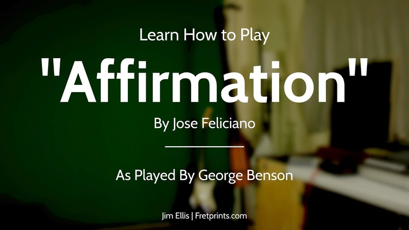 Learn to Play Affirmation on Guitar Melody