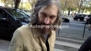 Vincent Gallo signing autographs in Paris