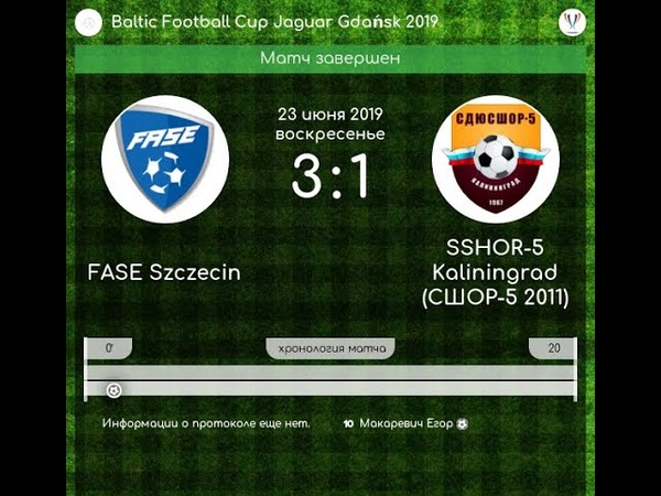 Baltic Football Cup. Gdansk 22-23 june 2019.Fase Szczecin - SSHOR-5 3-1
