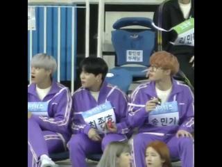 [FANCAM] 191216 Mingi, Wooyoung, Jongho (ATEEZ) EATING on ISAC 2020