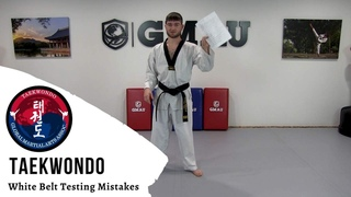 Taekwondo - White Belt Testing - Common Mistakes
