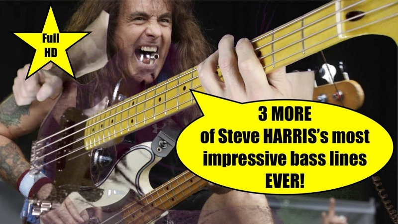 3 MORE of Steve HARRIS's most impressive bass lines with drums