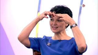 """Алена Россошинская на канале ТВЦ в программе """"Настроение"""". Комплекс упражнений для бодрости лица."""""""