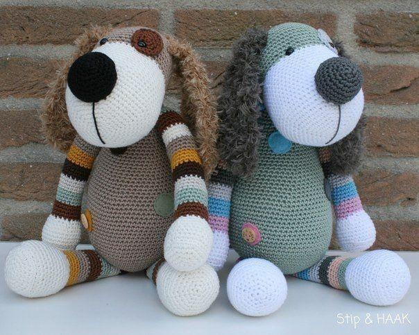 Забавные вязаные собачки от HERRIET STIP&HAAK