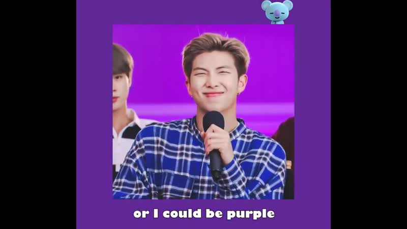 I could be every color you like RM 남준 @BTS_twt