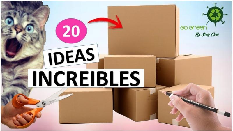 20 Manualidades FÁCILES Y RÁPIDAS con cajas de cartón RECICLAJE