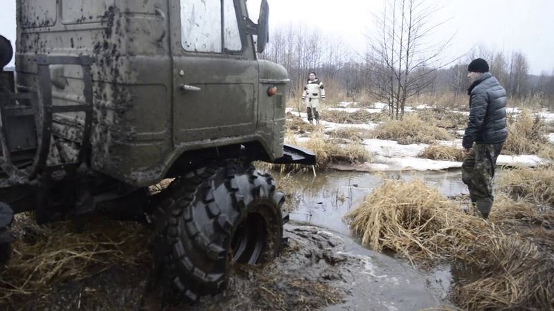 GAZ-66 on Arched Tires. made in Russia