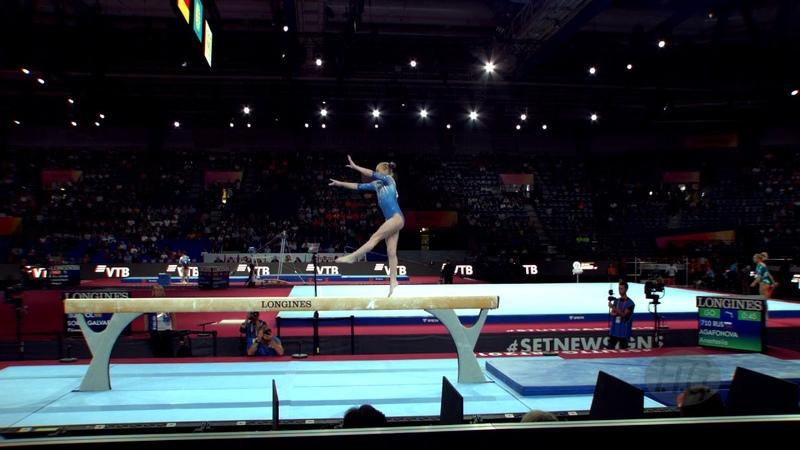 AGAFONOVA Anastasiia (RUS) - 2019 Artistic Worlds, Stuttgart (GER) - Qualifications Balance Beam