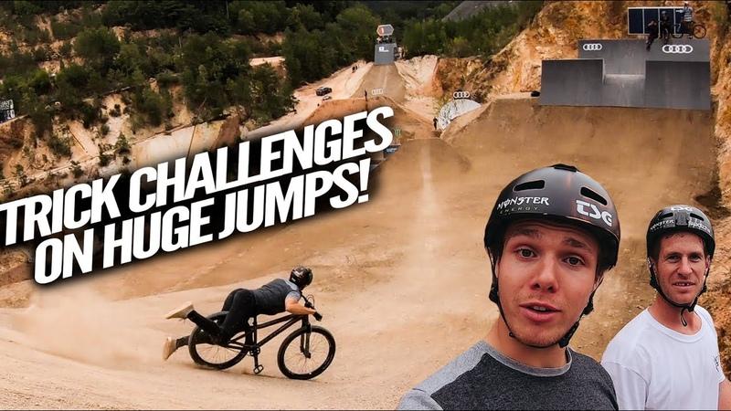MTB SLOPESTYLE CHALLENGES WITH SAM PILGRIM!! *CRASHES AND BANGERS* - Audi Nines 2019