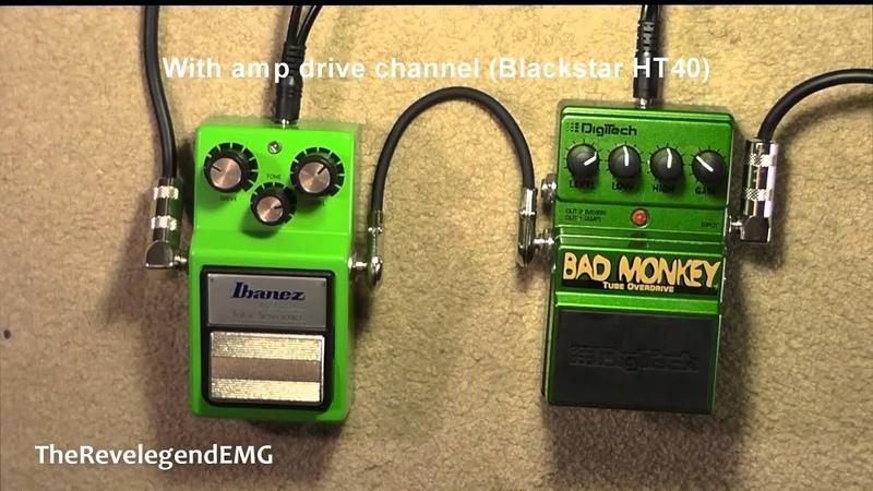 ♫ Digitech Bad Monkey vs Ibanez TS9 Tube Screamer ► (HD Audio)