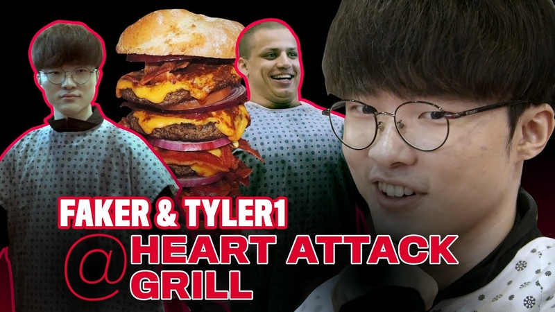 T1 Faker and Tyler1 Visit the Heart Attack Grill