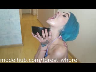 Forest whore anal cooking