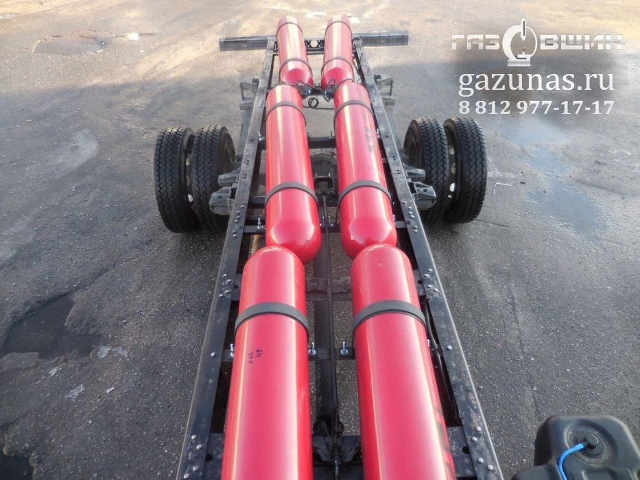 Заправочная емкость такого объёма баллонов составляет 70 кубометров сжатого природного газа