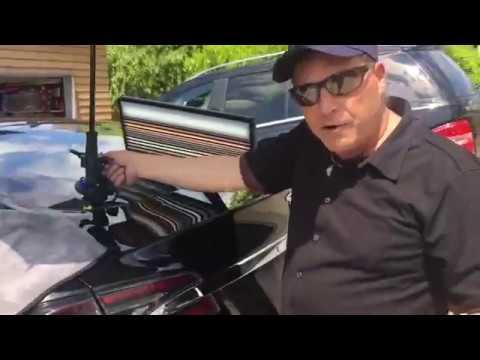 Tesla Model S 100 gets Undented decklid dent pdr teslamotorsclub undented gluepull