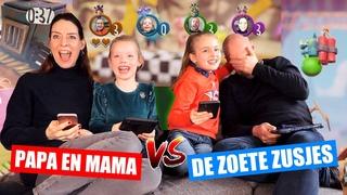 PAPA en MAMA vs. DE ZOETE ZUSJES! [Samen Gamen Met Onze Ouders] ♥DeZoeteZusjes♥