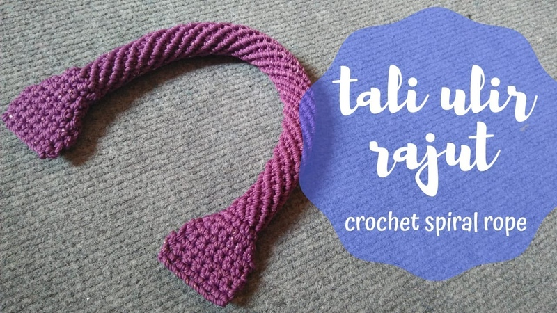 Tali Ulir Tas Rajut || Crochet Spiral Rope for Bag Handle